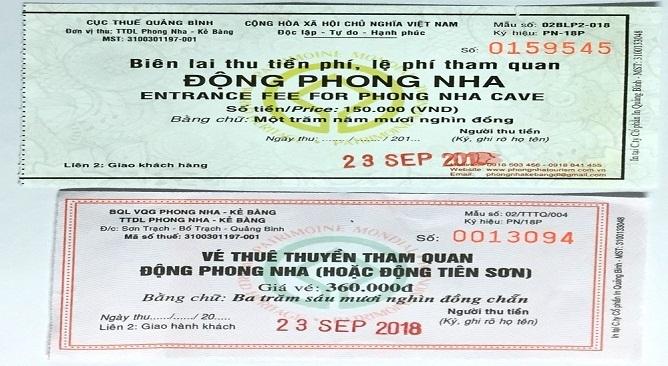 vé động Phong Nha