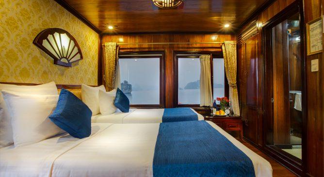 Du Thuyền Flamingo Cruises Hạ Long 2 Ngày 1 Đêm Khuyến Mại