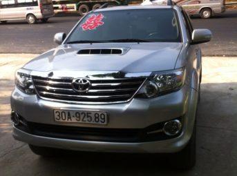 Cho Thuê Xe Toyota Fortuner 7 chỗ Giá rẻ nhất 0989608022