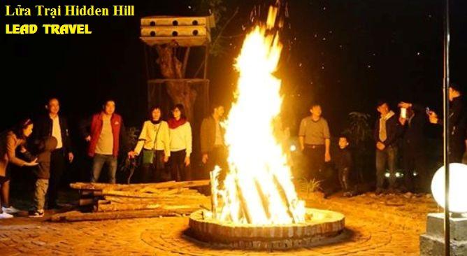 Đốt lửa trại Hidden Hill Resort Vĩnh Phúc