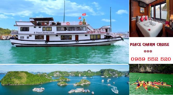 Du Thuyền Peace Charm Cruise Hạ Long 2 ngày 1 đêm