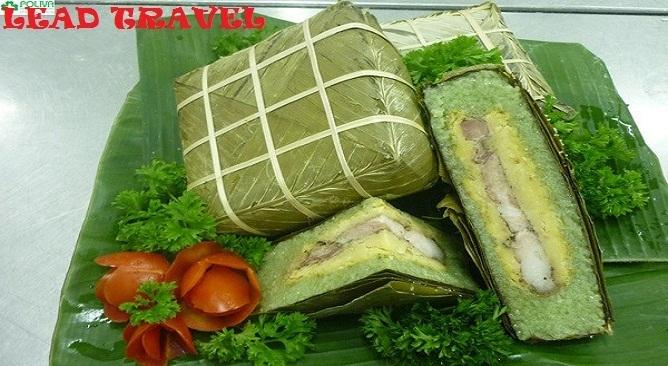 đặc sản bánh chưng bờ đậu