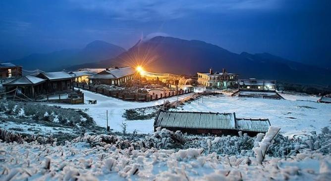 du lịch Mẫu Sơn ngắm tuyết