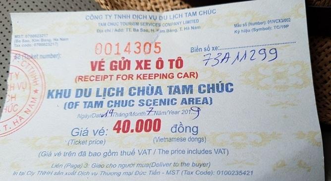 Giá vé vào chùa Tam Chúc bao nhiêu tiền