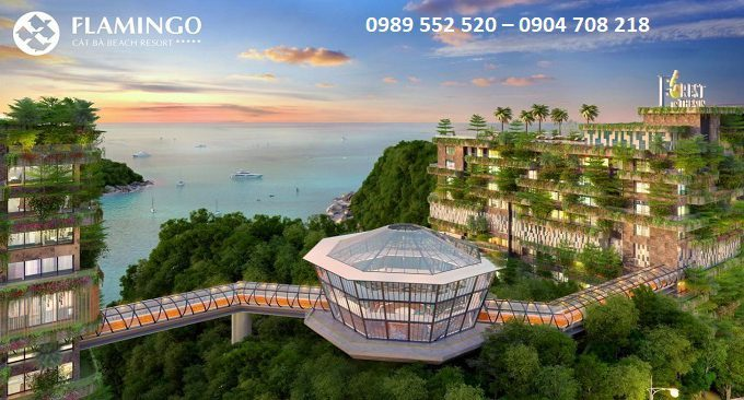 không gian xanh của khu nghỉ dưỡng flamingo cat ba