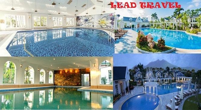 Bể bơi khoáng nóng vườn vua resort