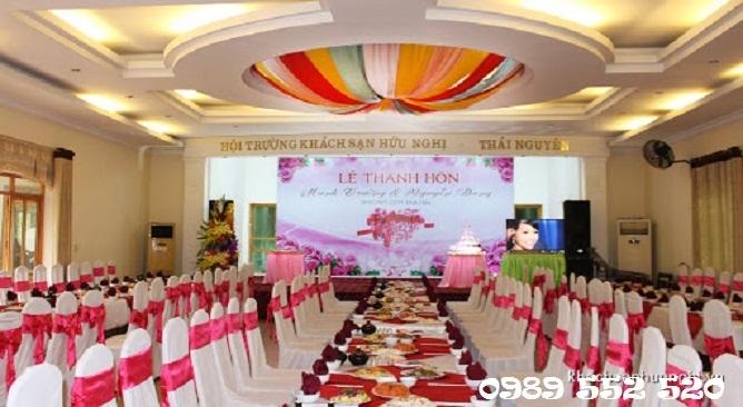 trung tâm tổ chức tiệc cưới ks hữu nghị thái nguyên
