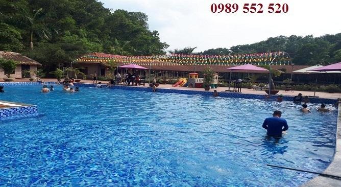 bể bơi đông á thái nguyên resort
