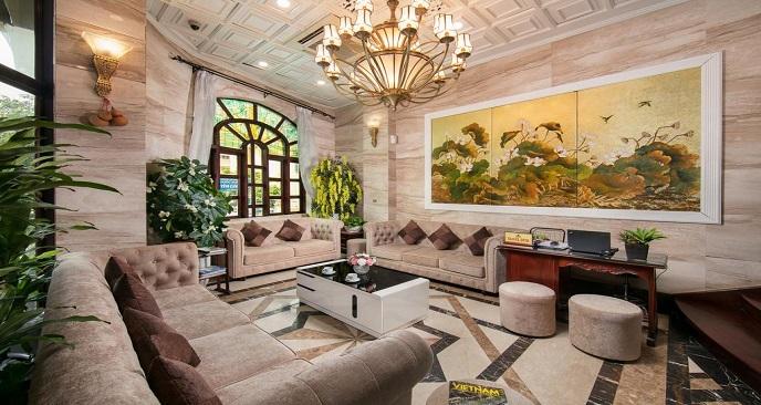 sảnh babylon grand hotel