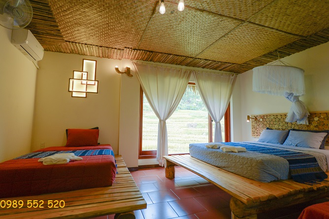 phòng nghỉ jungle lodge puluong