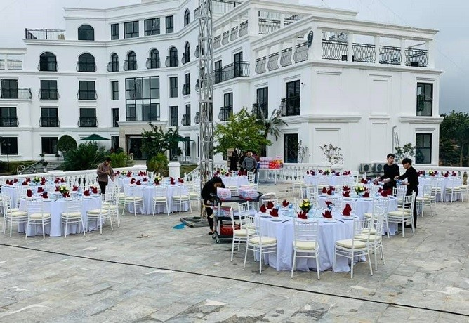 tiệc gala glory resort